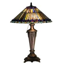 "23"" H Tiffany Jeweled Peacock Table Lamp"