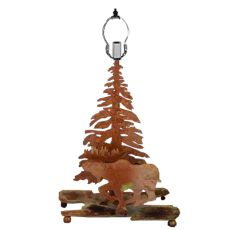 "14"" H Moose On The Loose Accent Lamp"