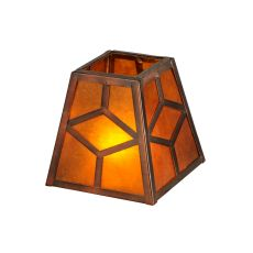 "5"" Sq Diamond Craftsman Shade"