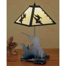 "20"" H Duck Hunter W/Dog Table Lamp"
