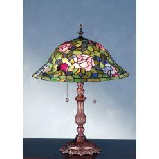 """19"""" H Tiffany Rosebush Table Lamp"""