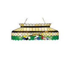 """40"""" L Green Billiard Oblong Pendant"""