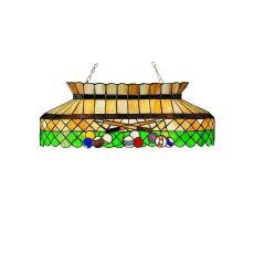 """32"""" L Green Billiard Oblong Pendant"""