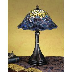 "18"" H Tiffany Peacock Feather Accent Lamp"