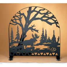 """30"""" W X 30"""" H Moose Creek Arched Fireplace Screen"""