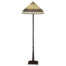 "62"" H Greek Key Floor Lamp"