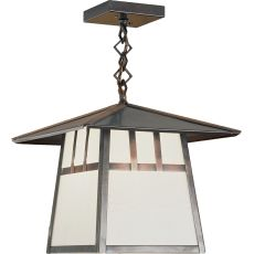 "12"" Sq Stillwater Double Bar Mission Ceiling Pendant"