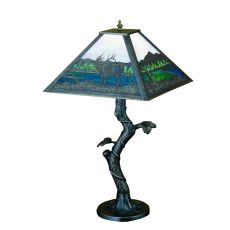 "23"" H Elk Creek Mission Apple Tree Table Lamp"