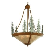 """24"""" W Tall Pines Inverted Pendant"""