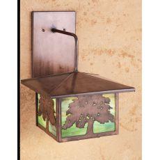 """10"""" W Oak Tree Lantern Wall Sconce"""