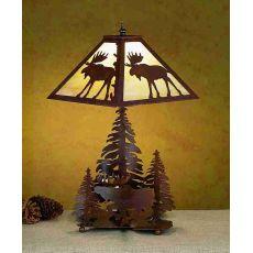 """21"""" H Lone Moose Table Lamp"""