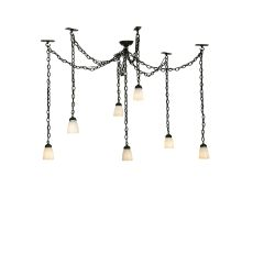 "12"" -126"" W Castilian 7 Lt Adjustable Pendant"
