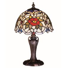 "13"" H Renaissance Rose Mini Lamp"