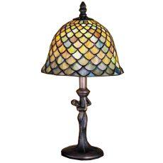 "15"" H Tiffany Fishscale Mini Lamp"