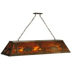 "61"" L Buffalo At Lake Oblong Pendant"