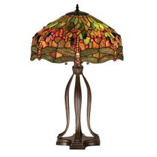 """30.5"""" H Tiffany Hanginghead Dragonfly Table Lamp"""