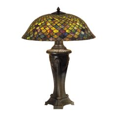 "30"" H Tiffany Fishscale Table Lamp"