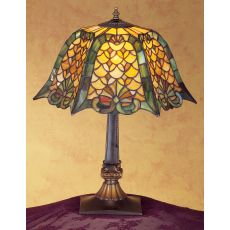 "19.5"" H D&K Shell & Diamond Table Lamp"