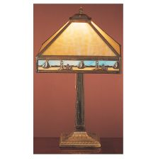 "22"" H Sailboat Mission Table Lamp"