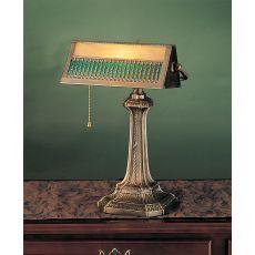 "13"" H Gothic Mission Banker'S Lamp"