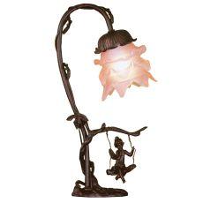 "16"" H Cherub On Swing Accent Lamp"