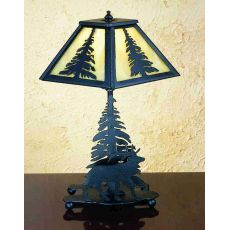 """14"""" H Lone Elk Accent Lamp"""