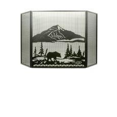 """74"""" W X 40"""" H Bear Creek Fireplace Screen"""