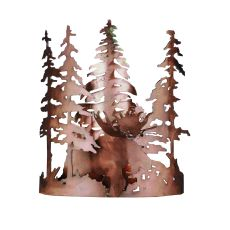 """11"""" W Moose Through The Trees Wall Sconce"""