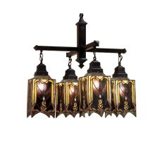 "27"" W Cottage Mission 4 Lt Chandelier"