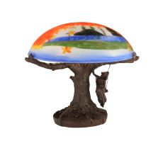 """15"""" H Maxfield Parrish Reveries Reverse Painted Table Lamp"""