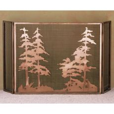 "50"" W X 30"" H Tall Pines Fireplace Screen"