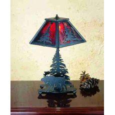 "15.5"" H Lone Moose Accent Lamp"