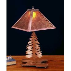 "21"" H Tall Pine Table Lamp"