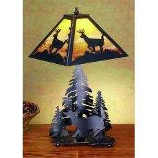 """21"""" H Lone Deer Table Lamp"""