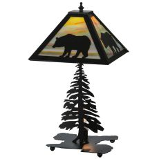 "21.5"" H Lone Bear W/Lighted Base Table Lamp"