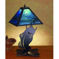 "21"" H Leaping Bass Table Lamp"
