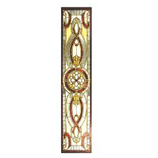 "52"" W X 11"" H Evelyn In Topaz Transom Stained Glass Window"