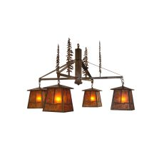 """40"""" W Tall Pines Valley View 4 Lt Chandelier"""