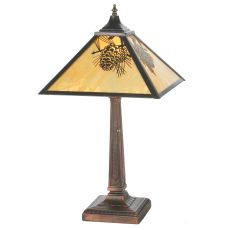 """23.5"""" H Winter Pine Mission Table Lamp"""