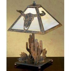 """21"""" H Steer Skull Table Lamp"""