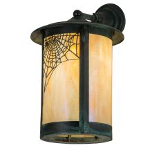 """12"""" W Fulton Spider Web Solid Mount Wall Sconce"""
