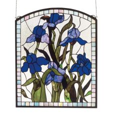 "20"" W X 24"" H Iris Stained Glass Window"