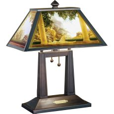 "20"" H Maxfield Parrish Daybreak Porcelain Lithophane Table Lamp"