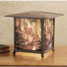 "13"" H Maxfield Parrish The Glen Lantern Accent Lamp"