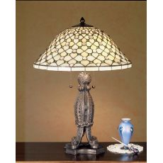 "24"" H Diamond & Jewel Table Lamp"