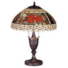 "25"" H Roses & Scrolls Table Lamp"