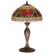 "22.5"" H Roses & Scrolls Table Lamp"