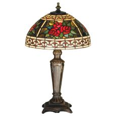 "16.5"" H Roses & Scrolls Accent Lamp"