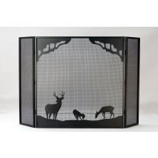 "62"" W X 40"" H Deer At Dawn Fireplace Screen"