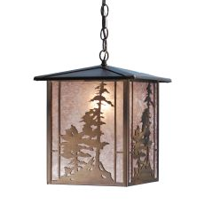 "12"" Sq Tall Pines Lantern Pendant"